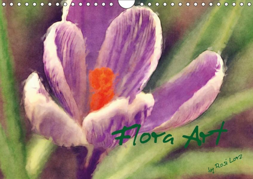 Flora Art (Wandkalender 2017 DIN A4 quer) - Coverbild
