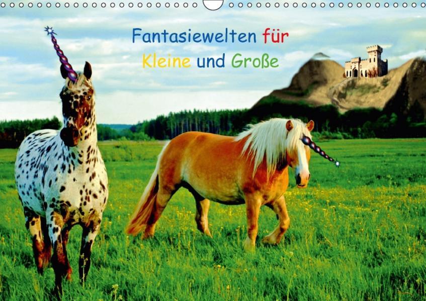 Fantasiewelten für Kleine und Große (Wandkalender 2017 DIN A3 quer) - Coverbild