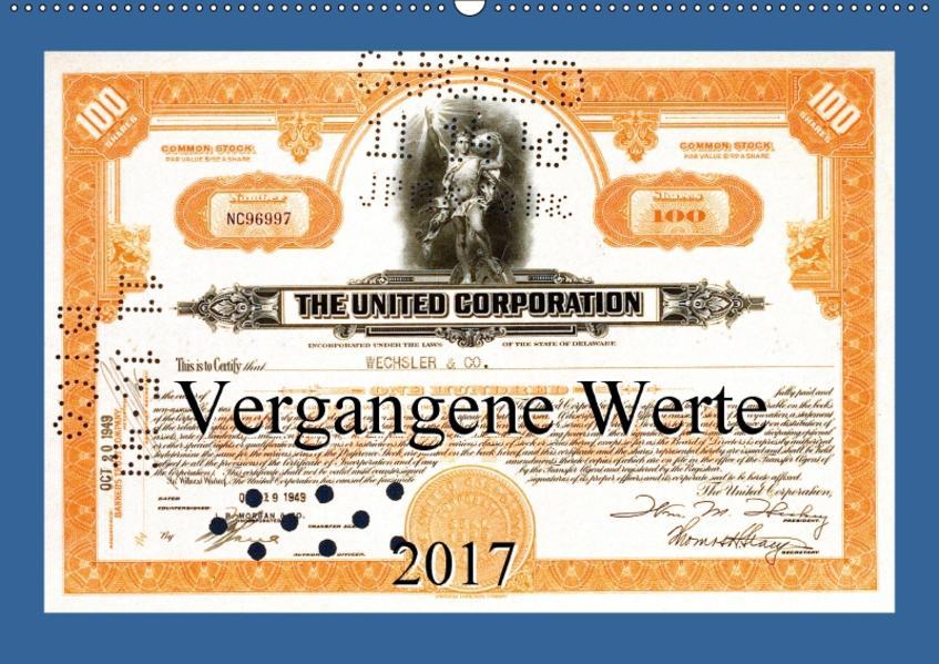 Vergangene Werte (Wandkalender 2017 DIN A2 quer) - Coverbild