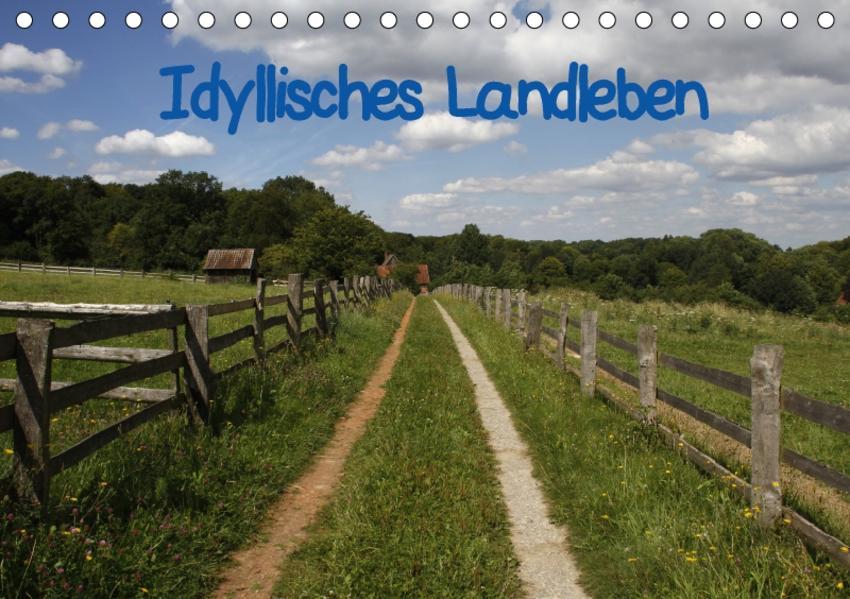 Idyllisches Landleben (Tischkalender 2017 DIN A5 quer) - Coverbild