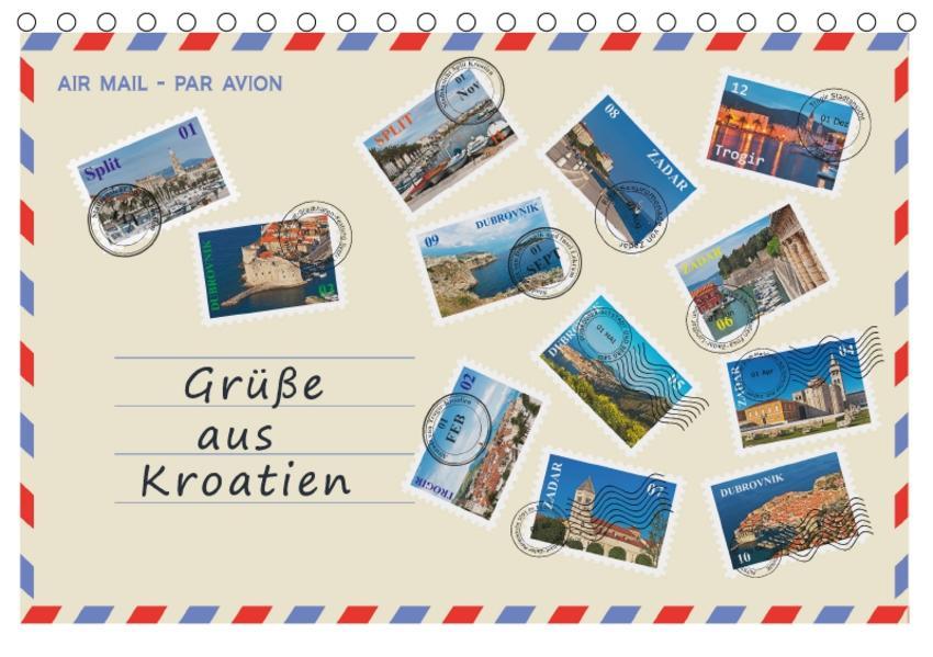 Grüße aus Kroatien (Tischkalender 2017 DIN A5 quer) - Coverbild