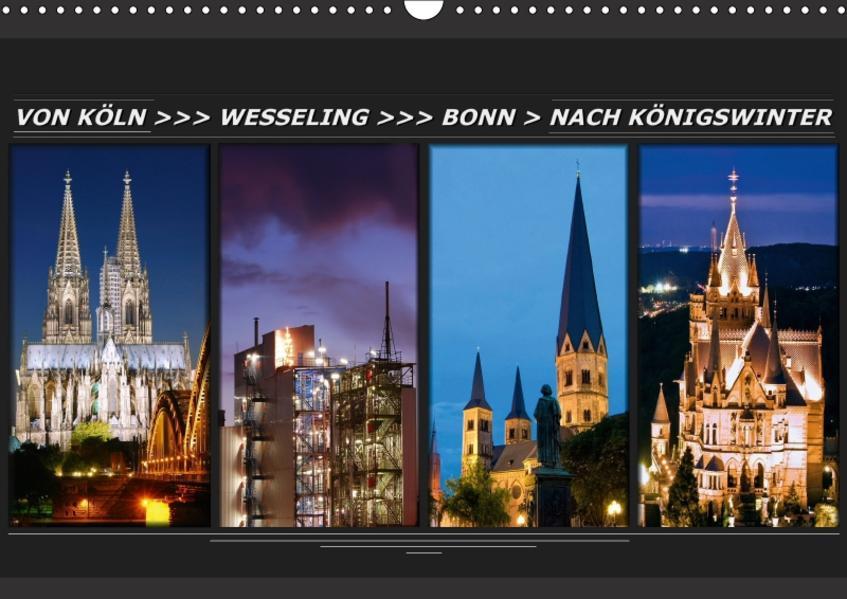 Von Köln nach Königswinter (Wandkalender 2017 DIN A3 quer) - Coverbild