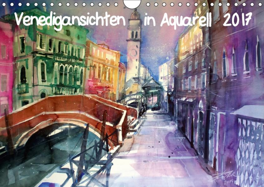 Venedigansichten in AquarellAT-Version  (Wandkalender 2017 DIN A4 quer) - Coverbild