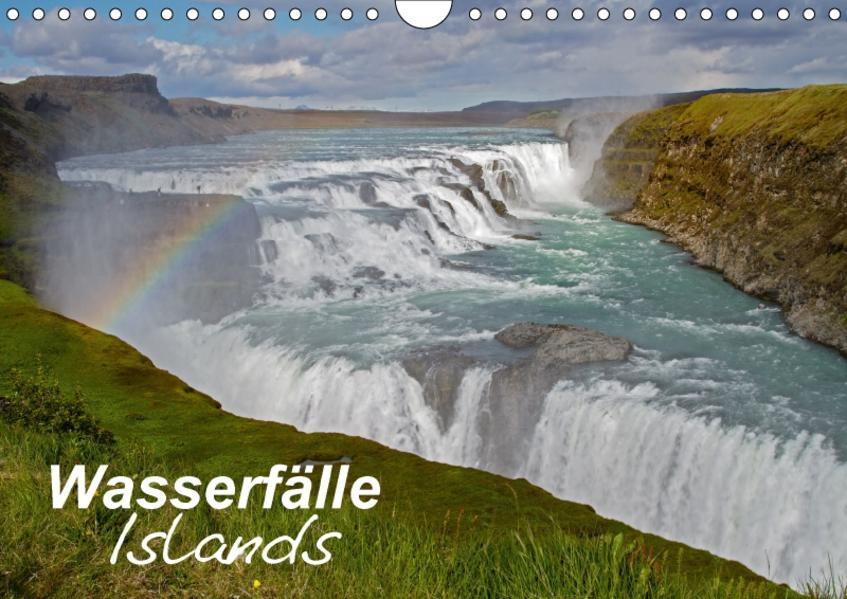 Wasserfälle Islands (Wandkalender 2017 DIN A4 quer) - Coverbild