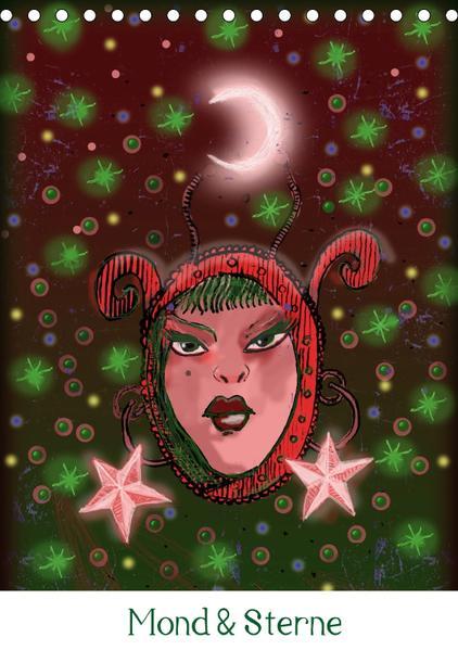 Mond & Sterne (Tischkalender 2017 DIN A5 hoch) - Coverbild