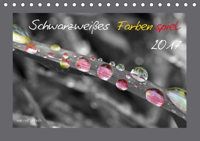 Schwarzweißes Farbenspiel 2017 / AT Version (Tischkalender 2017 DIN A5 quer) - Coverbild
