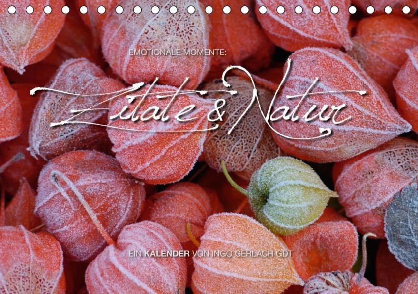 Emotionale Momente: Zitate & Natur (Tischkalender 2017 DIN A5 quer) - Coverbild