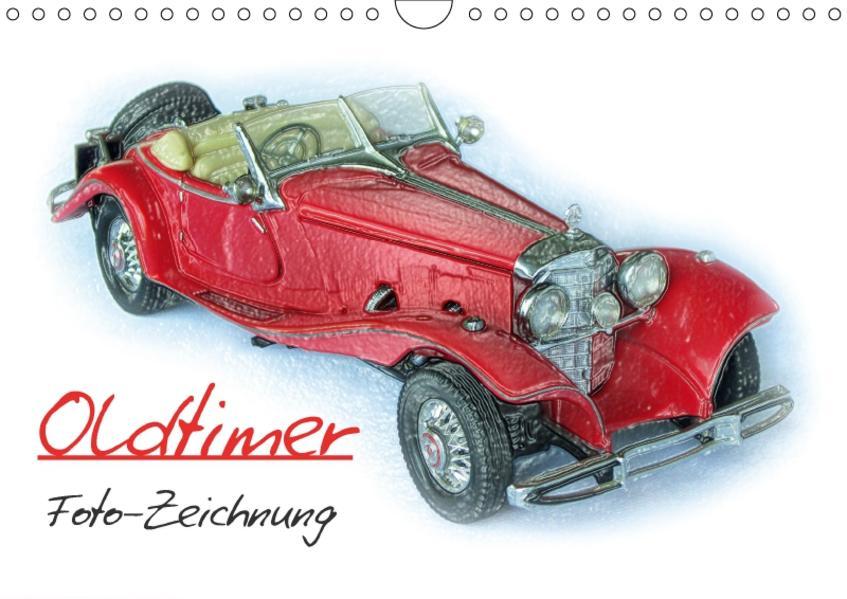 Oldtimer Foto-Zeichnung (Wandkalender 2017 DIN A4 quer) - Coverbild