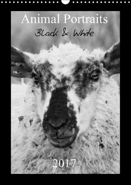 Animal Portraits Black & White 2017 CH Version (Wandkalender 2017 DIN A3 hoch) - Coverbild