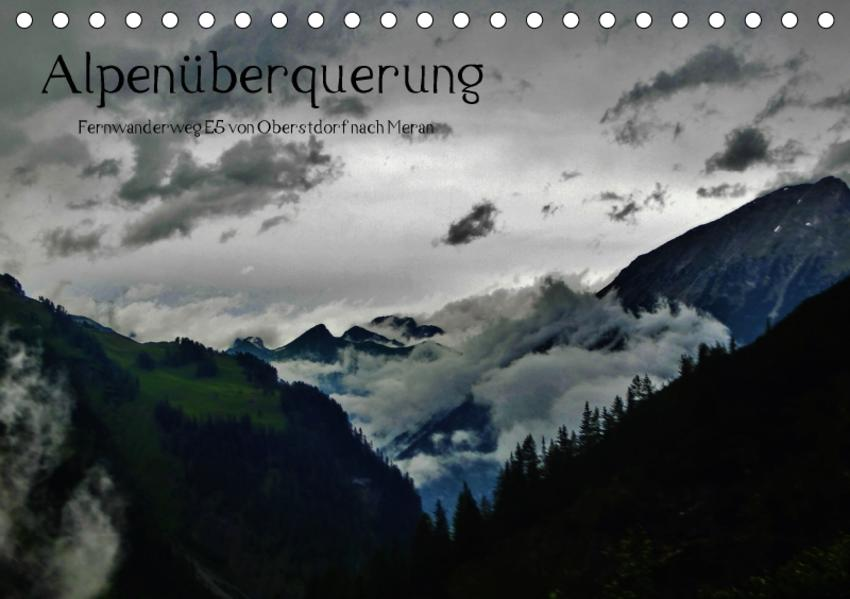 Alpenüberquerung (Tischkalender 2017 DIN A5 quer) - Coverbild