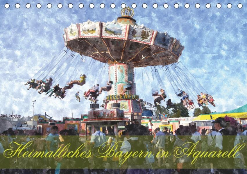 Heimatliches Bayern in Aquarell (Tischkalender 2017 DIN A5 quer) - Coverbild