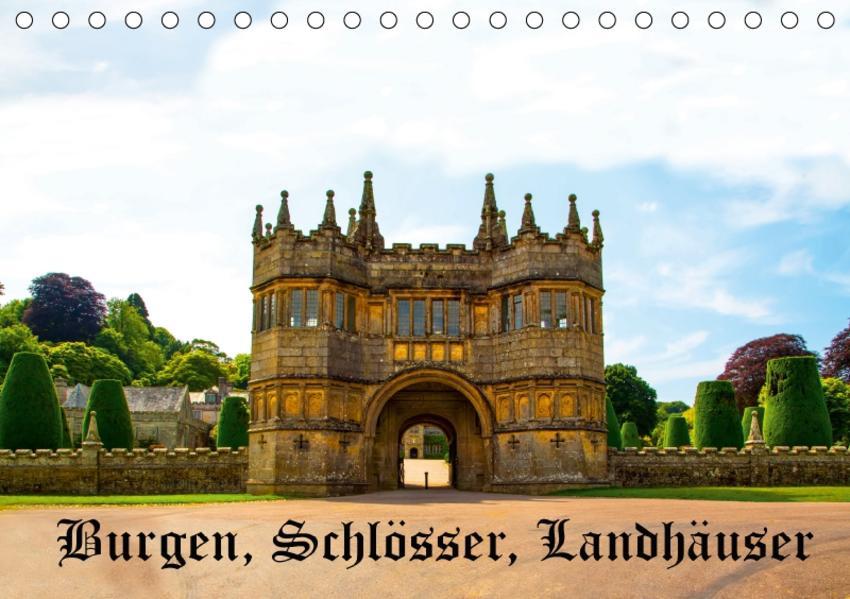 Burgen, Schlösser, Landhäuser (Tischkalender 2017 DIN A5 quer) - Coverbild