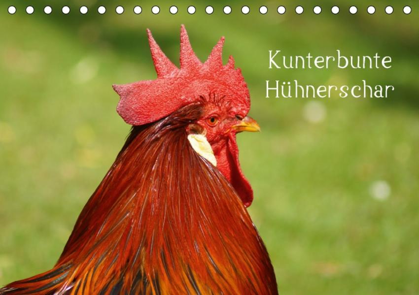 Kunterbunte Hühnerschar (Tischkalender 2017 DIN A5 quer) - Coverbild