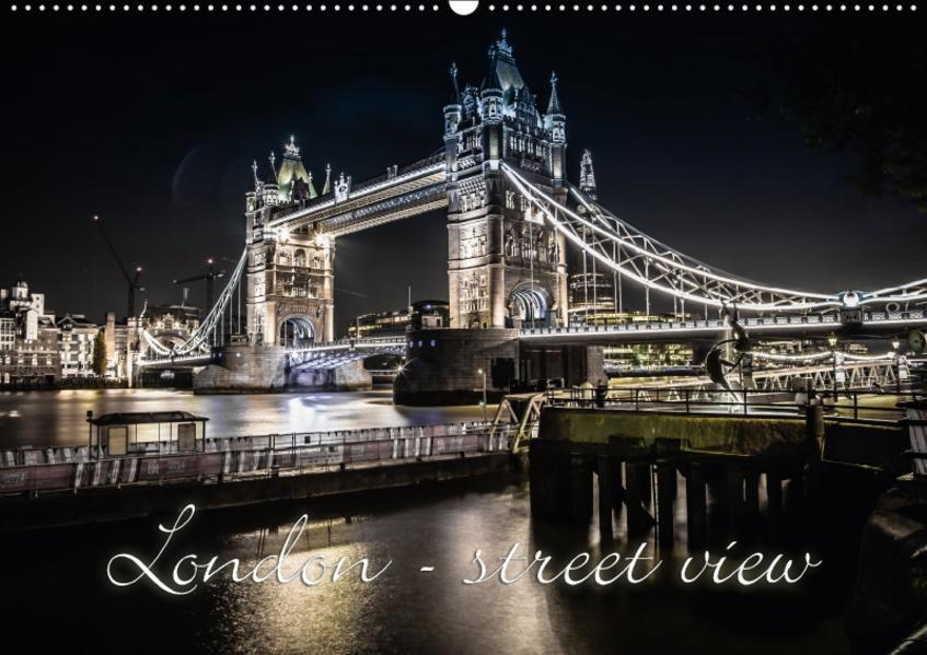 London - street view (CH-Version) (Wandkalender 2017 DIN A2 quer) - Coverbild