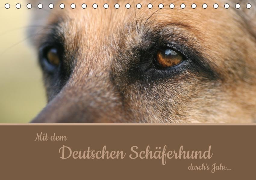 Mit dem Deutschen Schäferhund durch's Jahr (Tischkalender 2017 DIN A5 quer) - Coverbild
