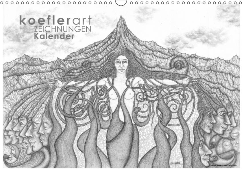Koeflerart Zeichnungen Kalender (Wandkalender 2017 DIN A3 quer) - Coverbild