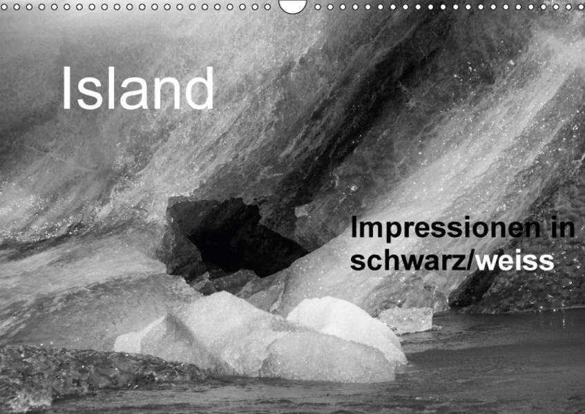 Island Impressionen in schwarz/weiss (Wandkalender 2017 DIN A3 quer) - Coverbild