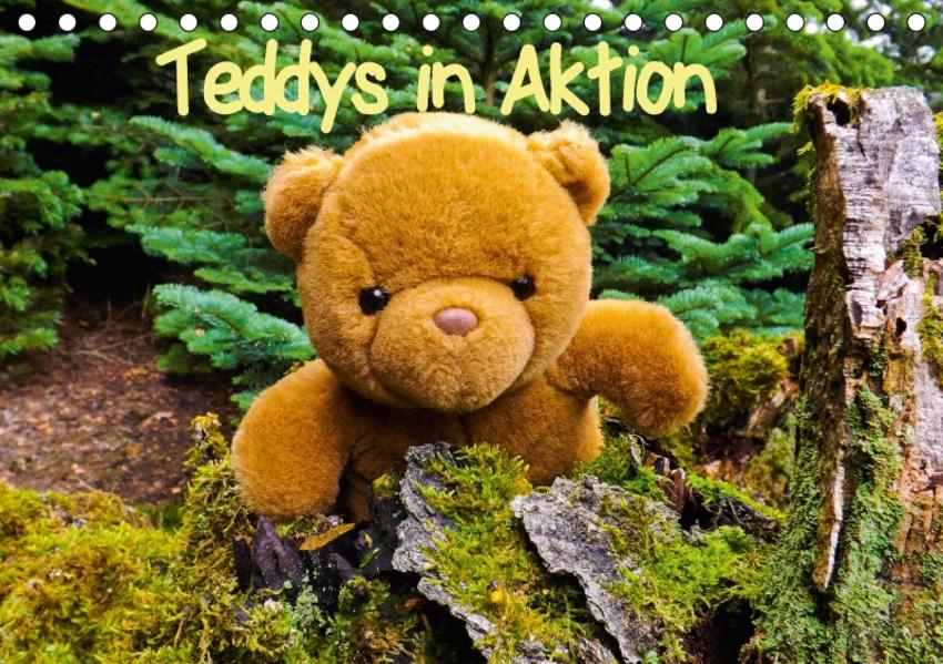 Teddys in AktionCH-Version  (Tischkalender 2017 DIN A5 quer) - Coverbild