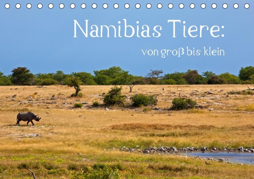 Namibias Tiere: von groß bis klein (Tischkalender 2017 DIN A5 quer) - Coverbild