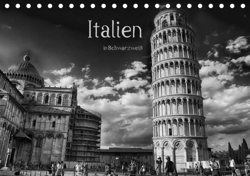 Italien in Schwarzweiß (Tischkalender 2017 DIN A5 quer) - Coverbild