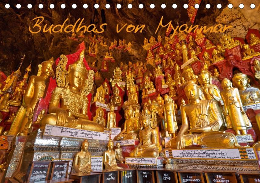 Buddhas von Myanmar / CH-Version (Tischkalender 2017 DIN A5 quer) - Coverbild