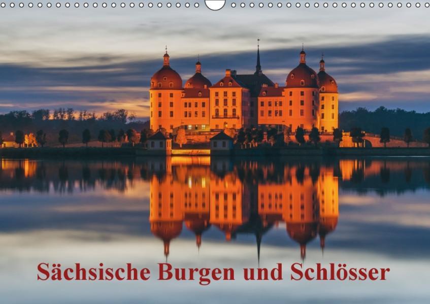 Sächsische Burgen und Schlösser / CH-Version (Wandkalender 2017 DIN A3 quer) - Coverbild