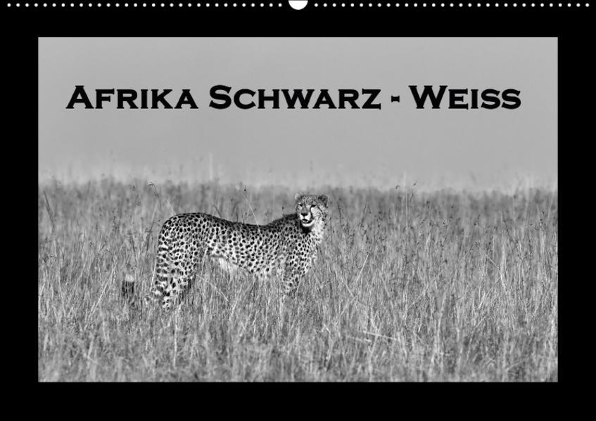 Afrika Schwarz - Weiss (Wandkalender 2017 DIN A2 quer) - Coverbild