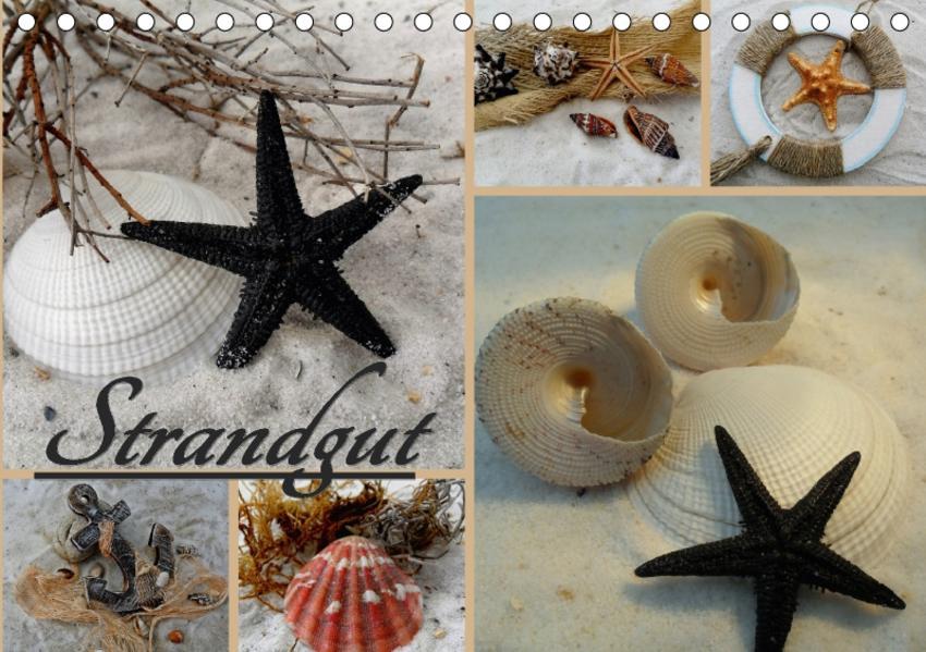 Strandgut / Geburtstagskalender (Tischkalender 2017 DIN A5 quer) - Coverbild