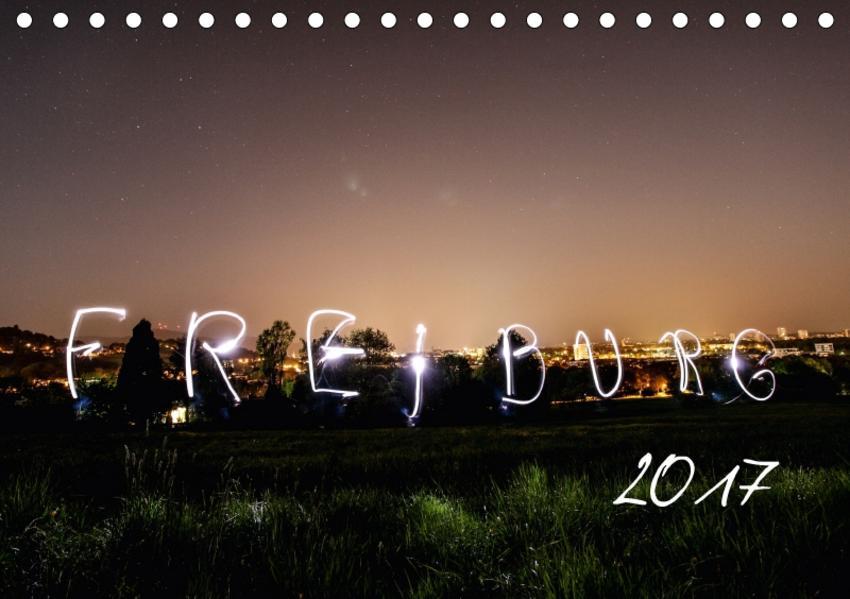 Freiburg bei Nacht (Tischkalender 2017 DIN A5 quer) - Coverbild
