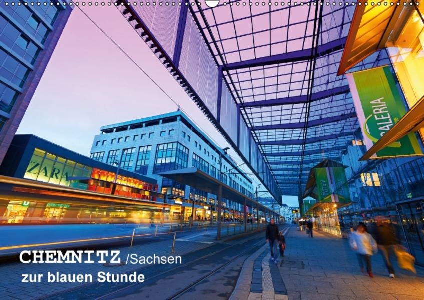 Chemnitz/Sachsen zur blauen Stunde (Wandkalender 2017 DIN A2 quer) - Coverbild