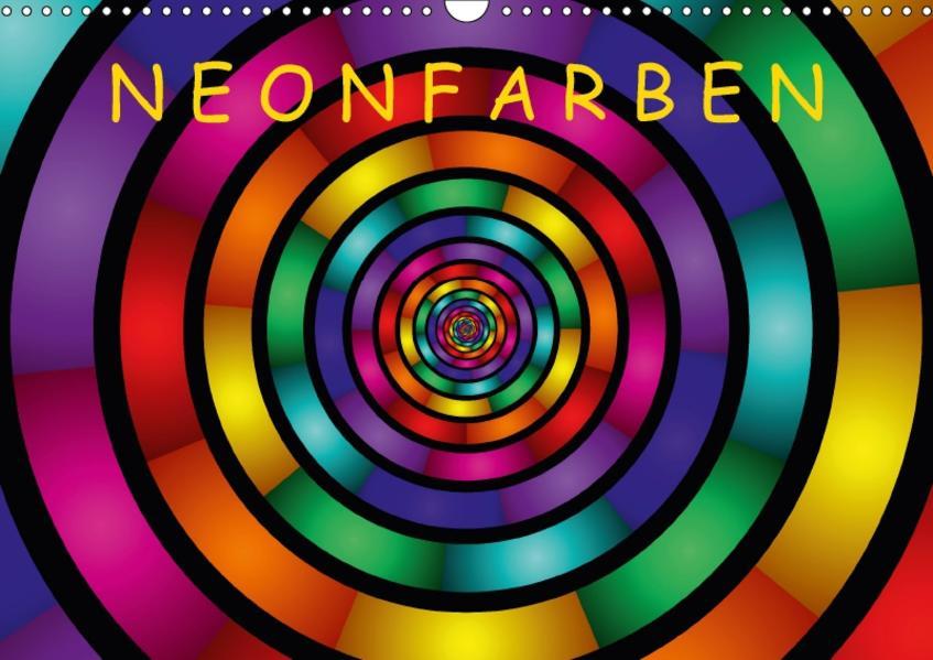 Neonfarben / AT-Version (Wandkalender 2017 DIN A3 quer) - Coverbild