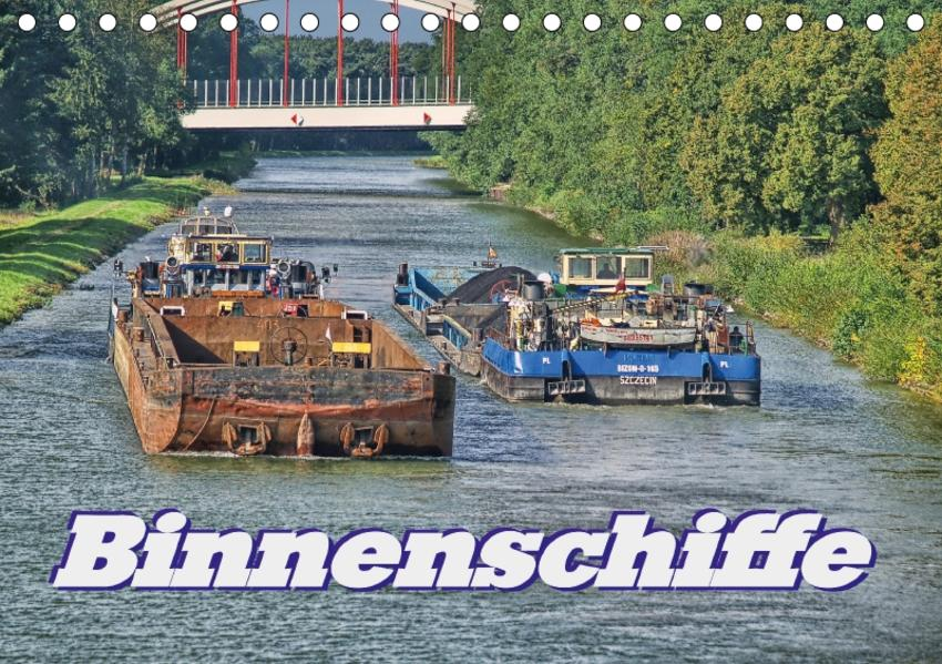 Binnenschiffe (Tischkalender 2017 DIN A5 quer) - Coverbild