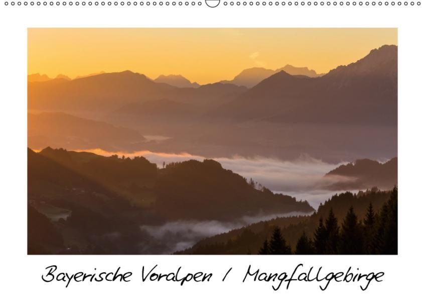 Bayerische Voralpen / Mangfallgebirge / CH-Version (Wandkalender 2017 DIN A2 quer) - Coverbild