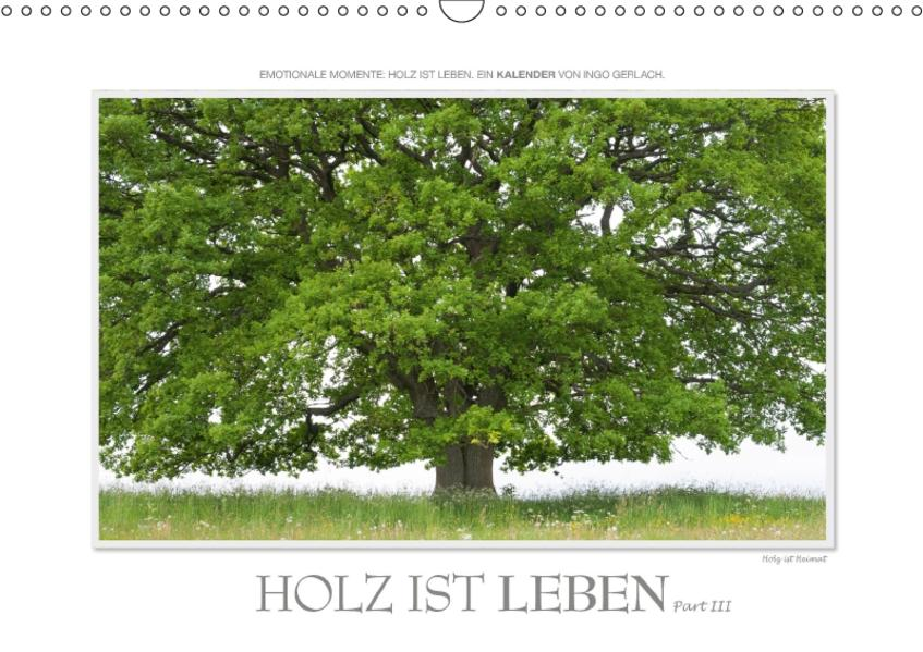 Emotionale Momente: Holz ist Leben. Part III. (Wandkalender 2017 DIN A3 quer) - Coverbild