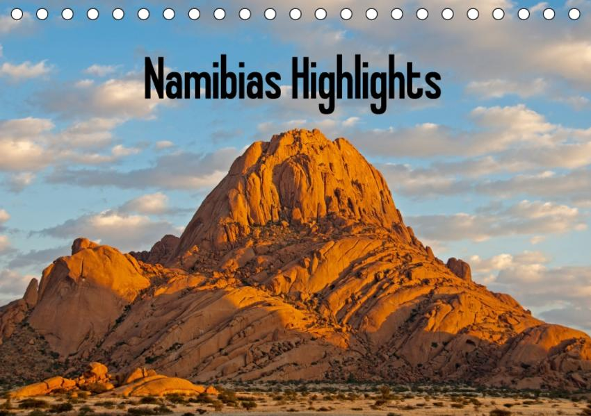 Namibias Highlights (Tischkalender 2017 DIN A5 quer) - Coverbild