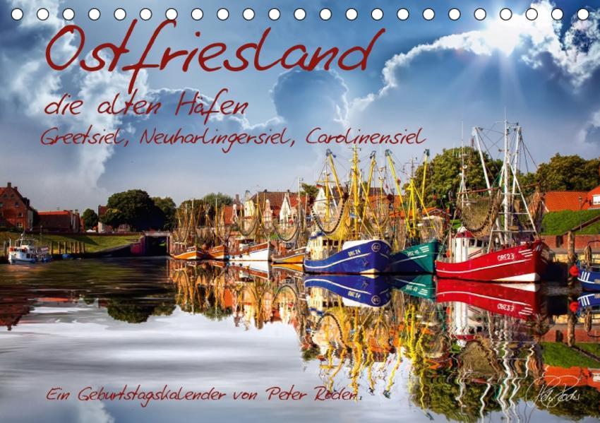 Ostfriesland, die alten Häfen / CH-Version / Geburtstagskalender (Tischkalender 2017 DIN A5 quer) - Coverbild