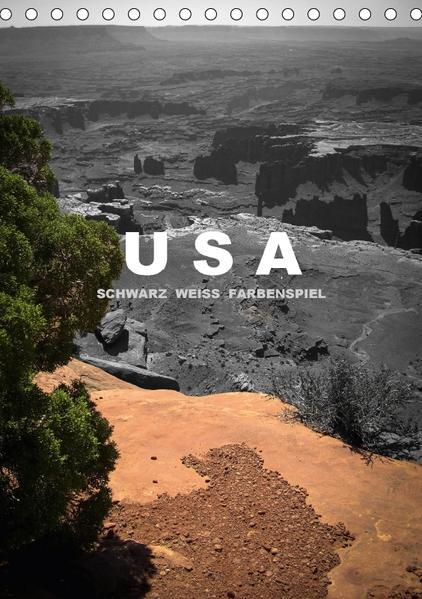USA - Schwarz weiss Farbenspiel / AT-Version (Tischkalender 2017 DIN A5 hoch) - Coverbild