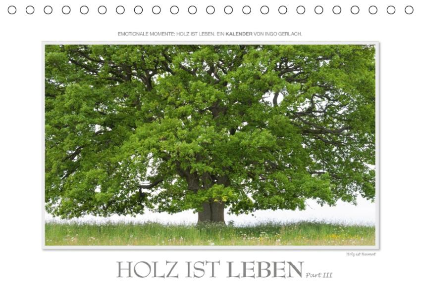 Emotionale Momente: Holz ist Leben. Part III. / CH-Version (Tischkalender 2017 DIN A5 quer) - Coverbild