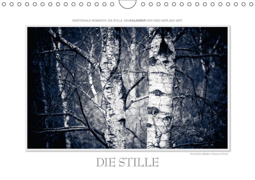 Emotionale Momente: Die Stille. / CH-Version (Wandkalender 2017 DIN A4 quer) - Coverbild