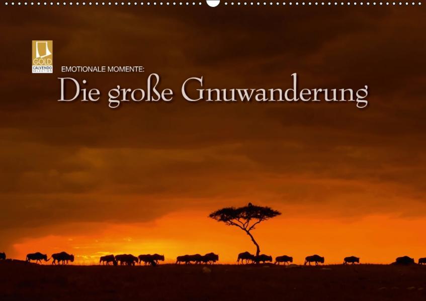 Emotionale Momente: Die große GnuwanderungCH-Version  (Wandkalender 2017 DIN A2 quer) - Coverbild