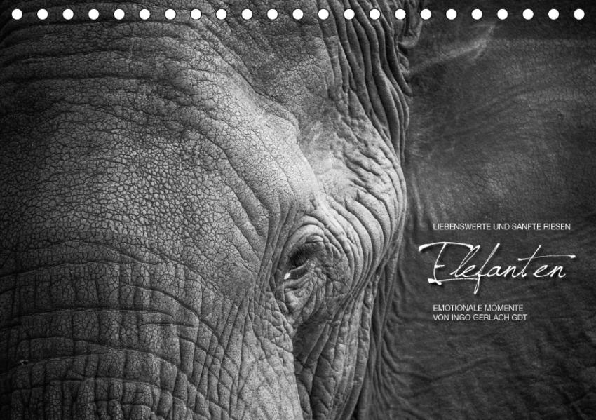 Emotionale Momente: Elefanten in black & white / CH-Version (Tischkalender 2017 DIN A5 quer) - Coverbild