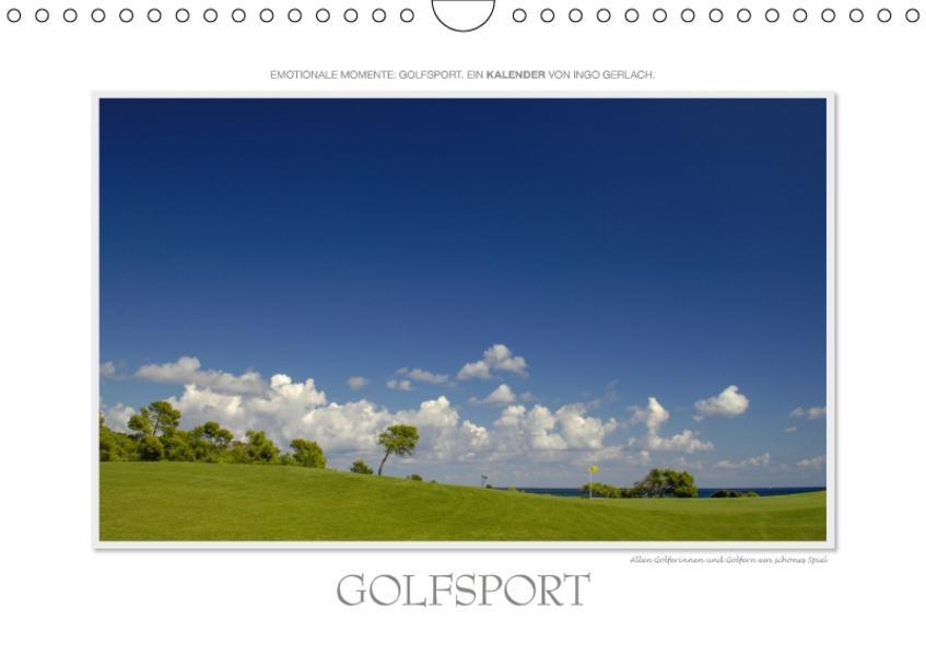 Emotionale Momente: Golfsport. / CH-Version (Wandkalender 2017 DIN A4 quer) - Coverbild