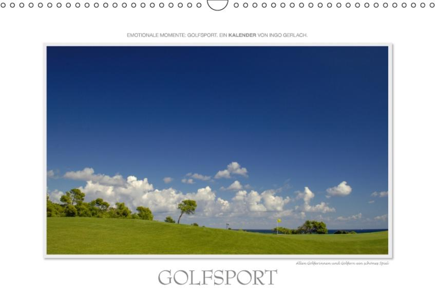 Emotionale Momente: Golfsport. / CH-Version (Wandkalender 2017 DIN A3 quer) - Coverbild