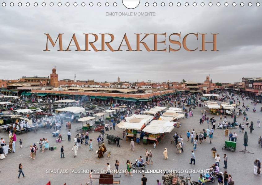 Emotionale Momente: Marrakesch / CH-Version (Wandkalender 2017 DIN A4 quer) - Coverbild