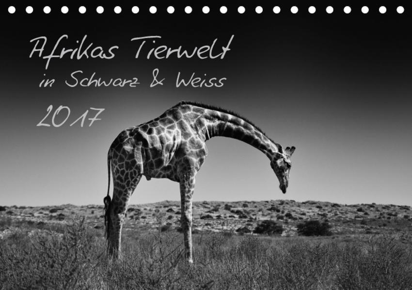 Afrikas Tierwelt in Schwarz & Weiss / CH-Version (Tischkalender 2017 DIN A5 quer) - Coverbild