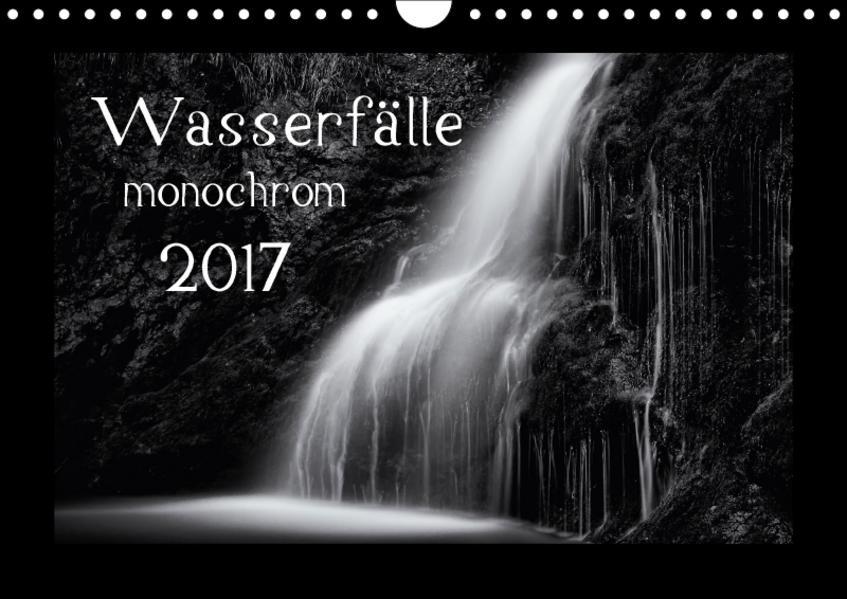 Wasserfälle - monochrom / CH-Version (Wandkalender 2017 DIN A4 quer) - Coverbild