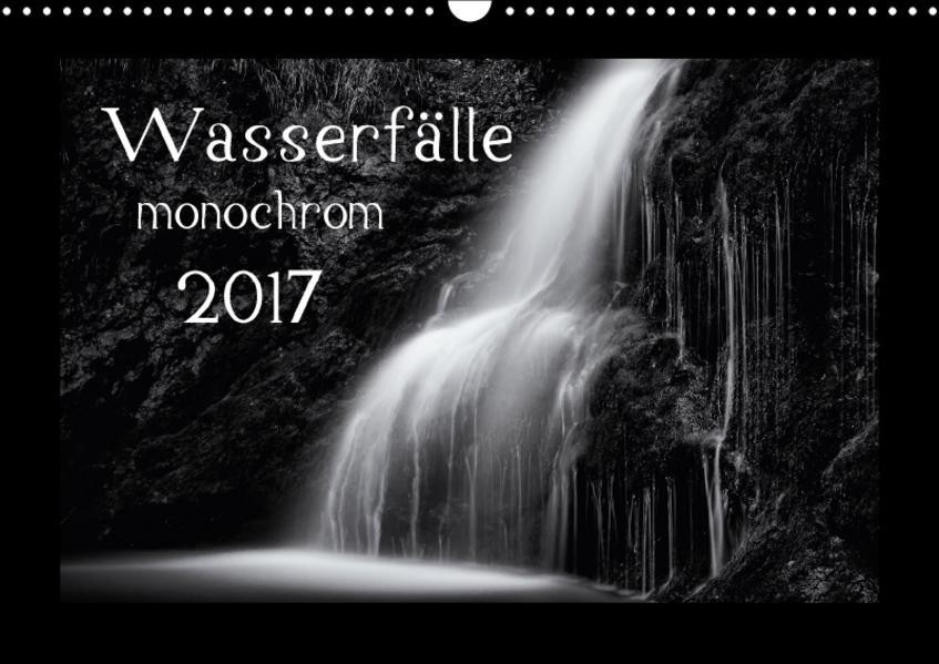 Wasserfälle - monochrom / CH-Version (Wandkalender 2017 DIN A3 quer) - Coverbild