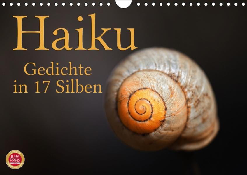 Haiku - Gedichte in 17 Silben (Wandkalender 2017 DIN A4 quer) - Coverbild