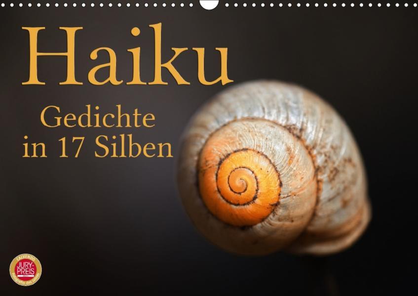 Haiku - Gedichte in 17 Silben (Wandkalender 2017 DIN A3 quer) - Coverbild
