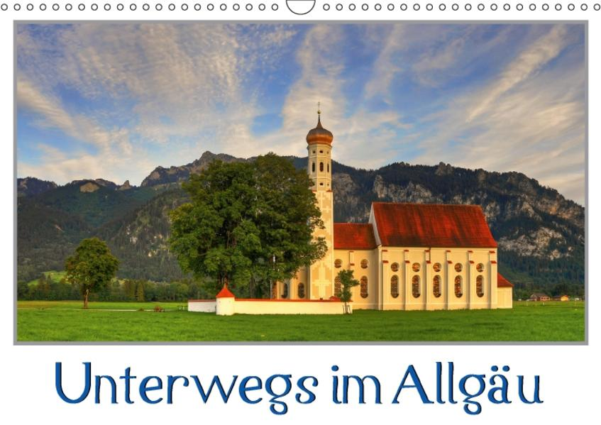 Unterwegs im Allgäu (Wandkalender 2017 DIN A3 quer) - Coverbild